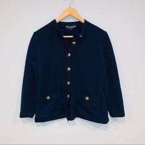 St John Basics Navy Blue Sweater Cardigan